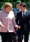 Зеленський зустрівся із Меркель (фото)