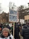 Учасники акції проти ринку землі перекрили кілька вулиць у центрі Києва (відео)