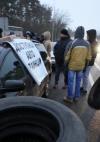 В'їзди до Києва блокують активісти з вимогою ухвалити зміни до Митного кодексу (фото)